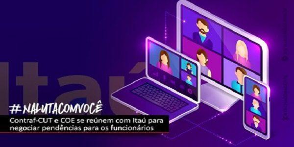 COE Itaú discute com banco nesta quarta 20 banco de horas negativas, Bolsa Auxílio Educação e PCR