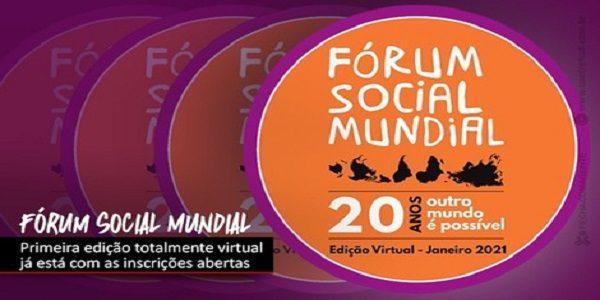 Inscrições estão abertas para o Fórum Social Mundial Virtual, de 23 a 31 de janeiro
