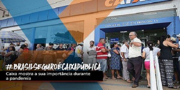 Caixa cresce em importância para a população na mais grave crise sanitária do país