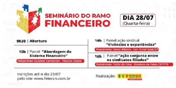 <p>Fetec-CUT/CN realiza Seminário do Ramo Financeiro no dia 28</p>